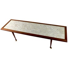 Rectangular Marble-Top Coffee Table Attributed to Probber