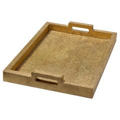 Rectangular Metal Clad Tray in Brass