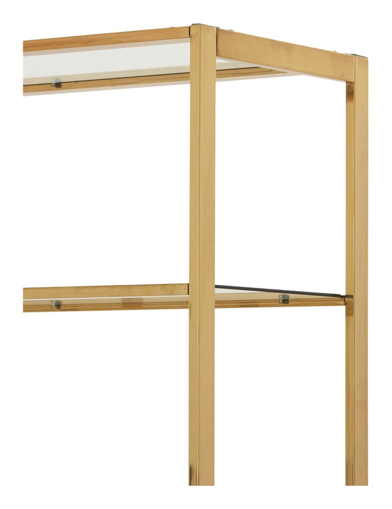 Mid-Century Rectangular Brass Shelf In Good Condition For Sale In Chicago, IL
