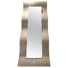 Rectangular Mirror in Metal Lorenzo Burchellaro Italian Production