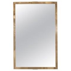 Rectangular Mirror with Brass Surround