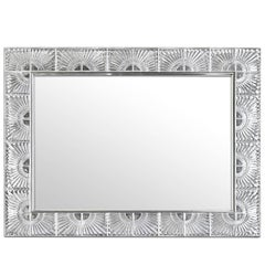Rectangular Mirror with Crystal