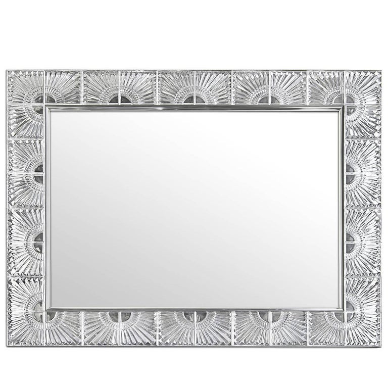Rectangular Mirror with Crystal For Sale