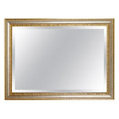 Rectangular Mirror with Gold Frame