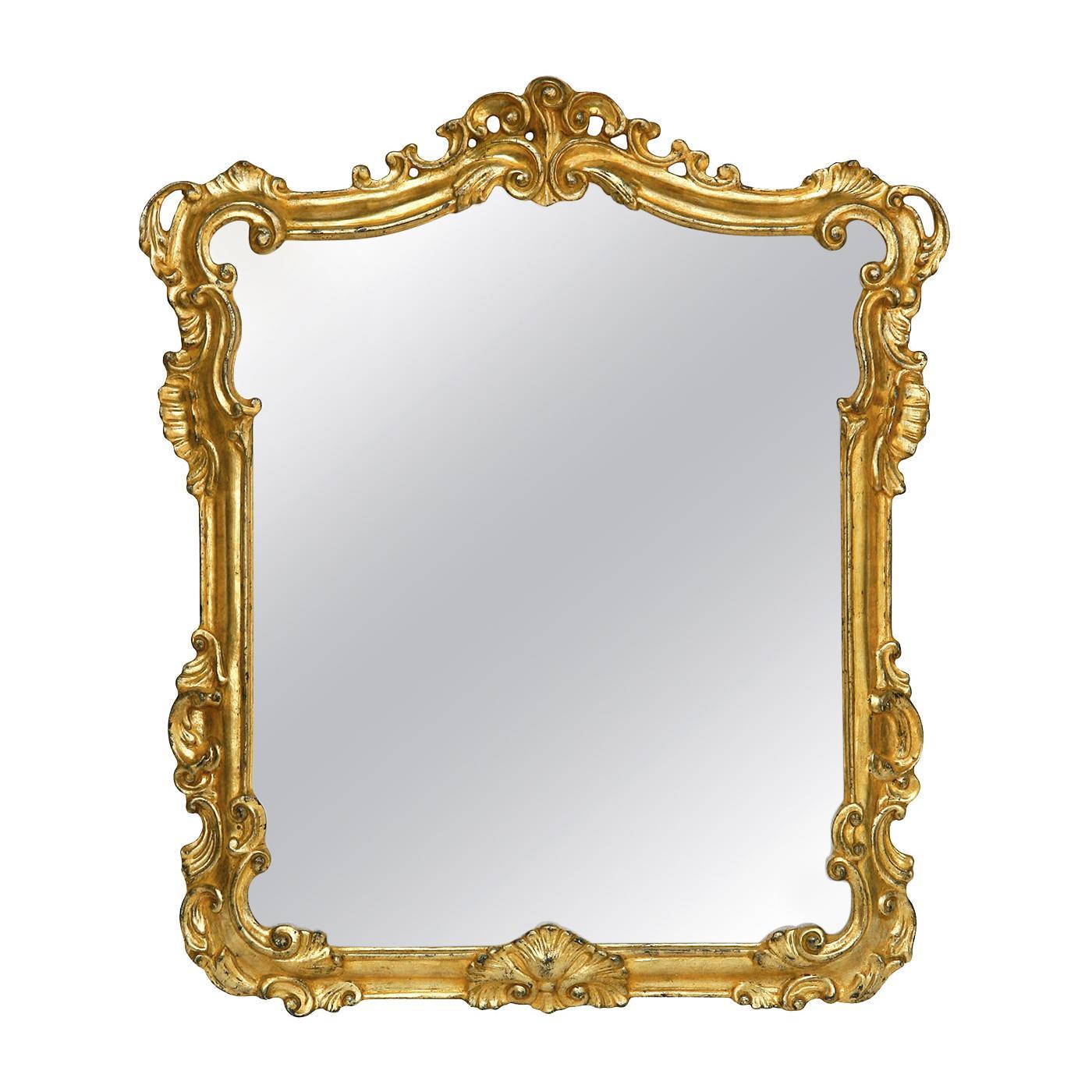 Rectangular Mirror with Gold Leaf