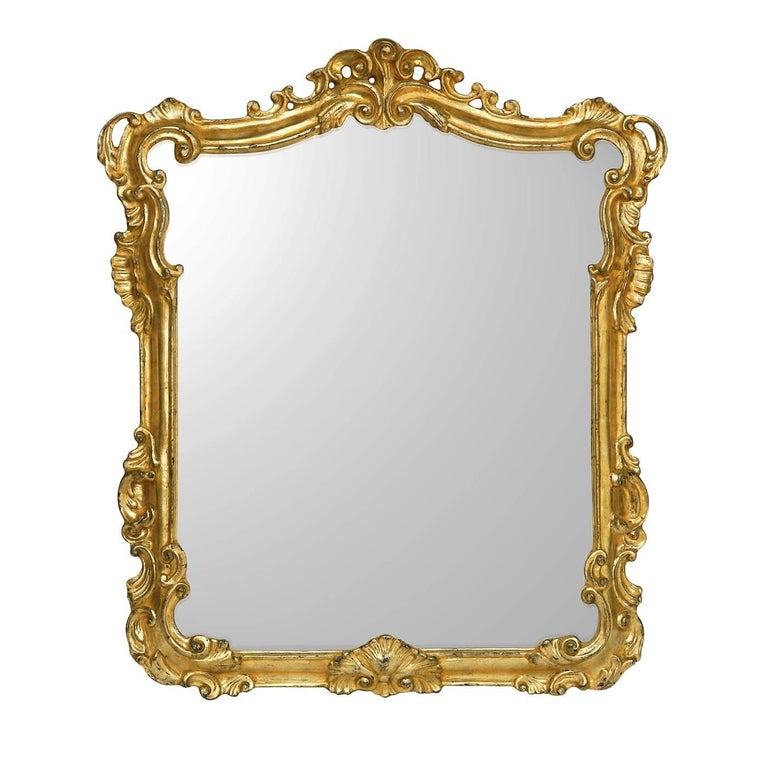 Rectangular Mirror with Gold Leaf
