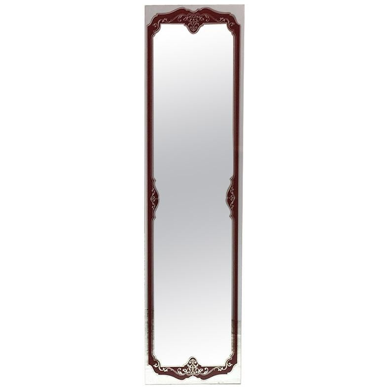 Rectangular Mirror with Liberty Decorative Motif, 1950s