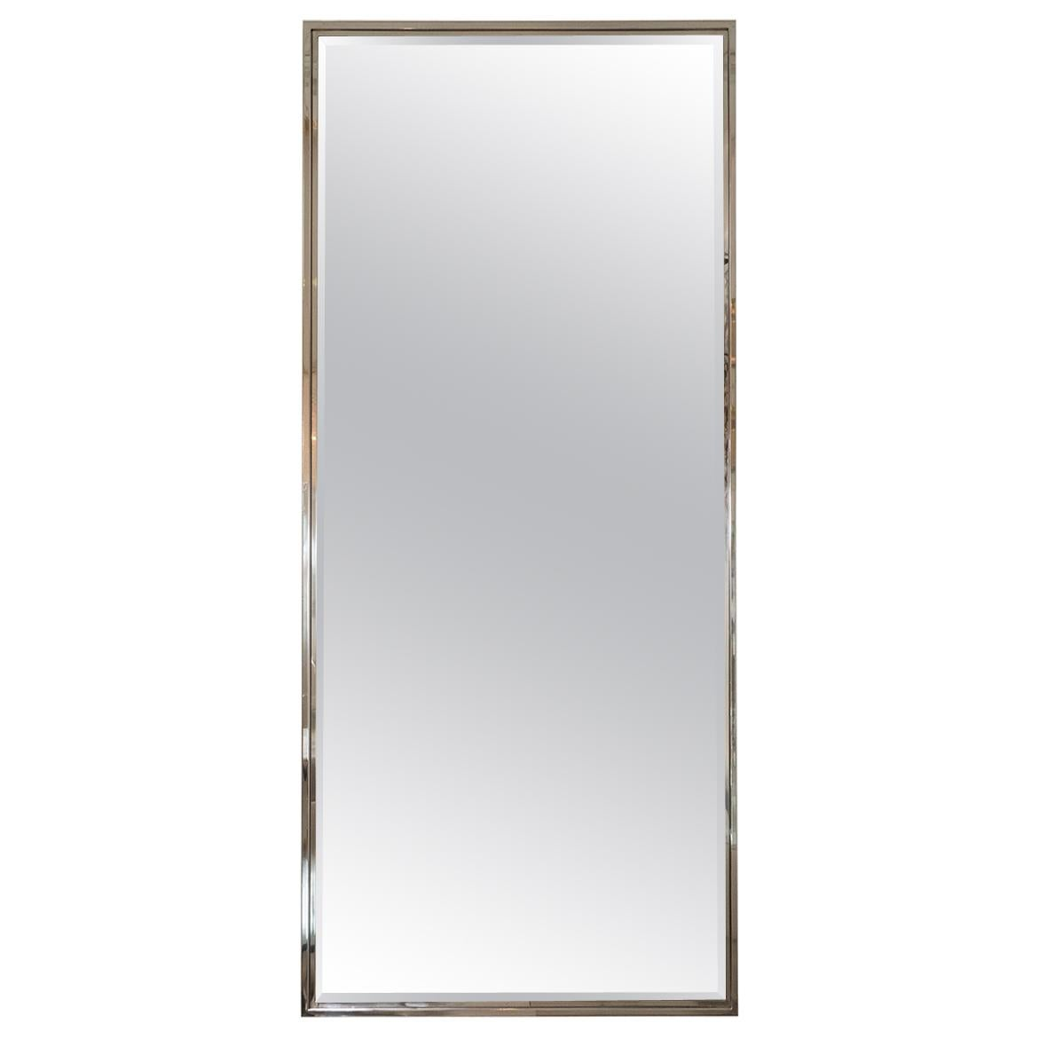 Rectangular Mirror with Polished Nickel Surround