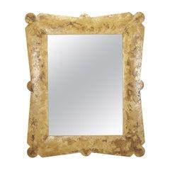 Rectangular Mirror with Spatula Finish