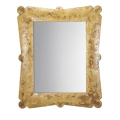 Rectangular Mirror with Spatula Finish