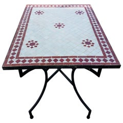 Rectangular Moroccan Mosaic Side Table-Choice of High or Low Base