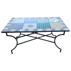 Rectangular Moroccan Mosaic Side Table, Sampler 1