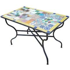 Rectangular Moroccan Mosaic Side Table, Sampler 3