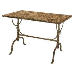 Rectangular Painted Iron Tilt-Table