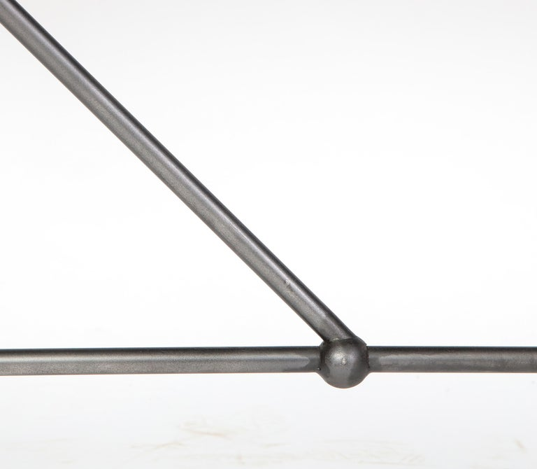 Rectangular Patinated Metal Side Table, Designed by Juan Montoya, Modern For Sale 2