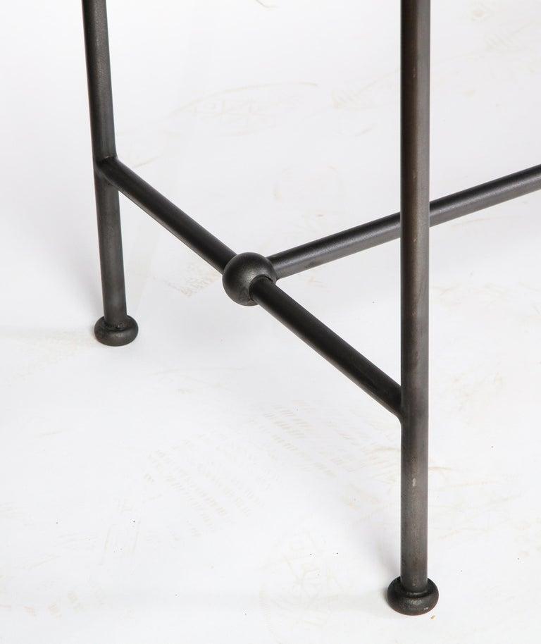 Rectangular Patinated Metal Side Table, Designed by Juan Montoya, Modern For Sale 3