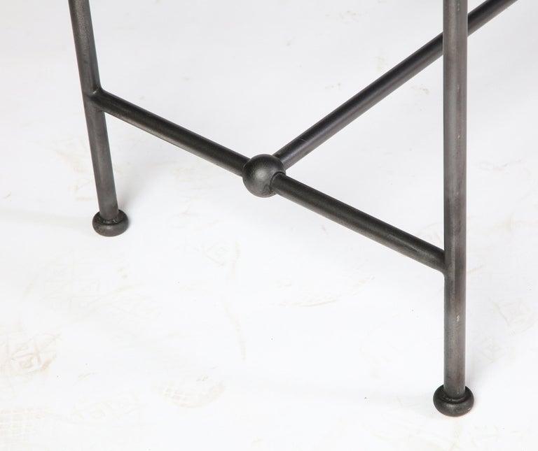 Rectangular Patinated Metal Side Table, Designed by Juan Montoya, Modern For Sale 7