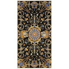 Rectangular Pietra Dura Table Top, Marble and Hard Stones, It Has a Restoration