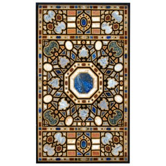 "Rectangular ""Pietra Dura"" Tabletop, Marble and Hardstones, End 20th Century"