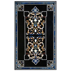 "Rectangular ""Pietra Dura"" Tabletop, Marble and Hardstones, Late 20th Century"