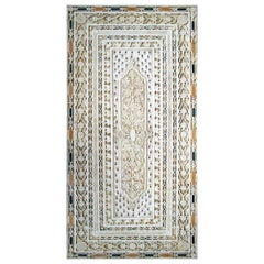 Rectangular Pietre Dure White Marble Inlay Mosaic 6-Seat Dinning Table Top