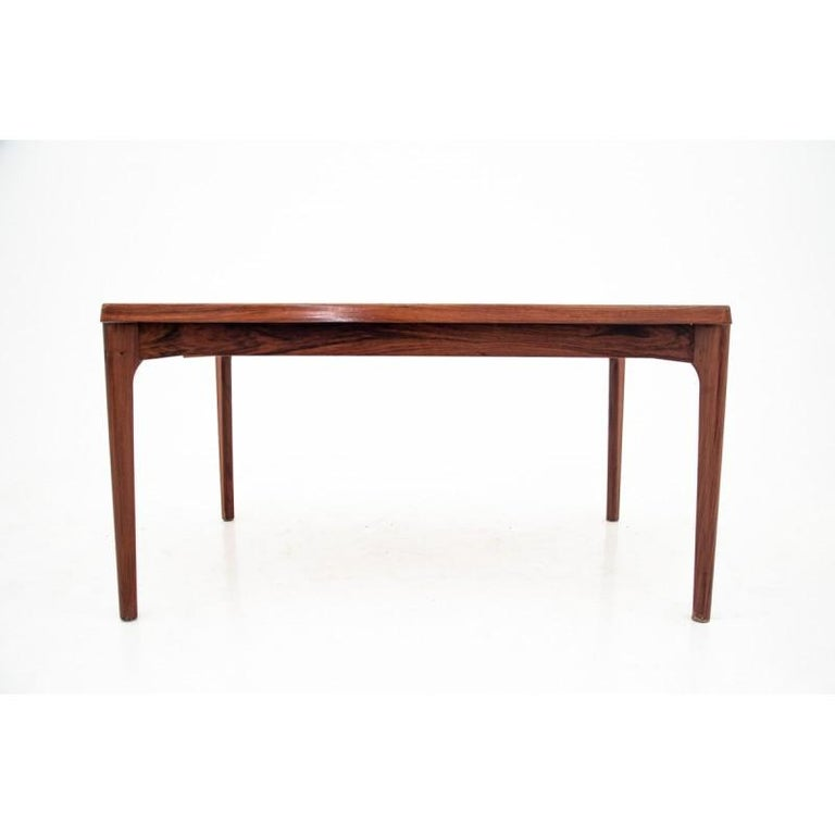 Mid-Century Modern Rectangular Rosewood Extendable Dining Table in Danish Design, 1960s For Sale
