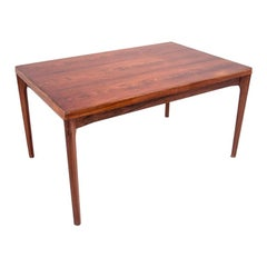 Rectangular Rosewood Extendable Dining Table in Danish Design, 1960s