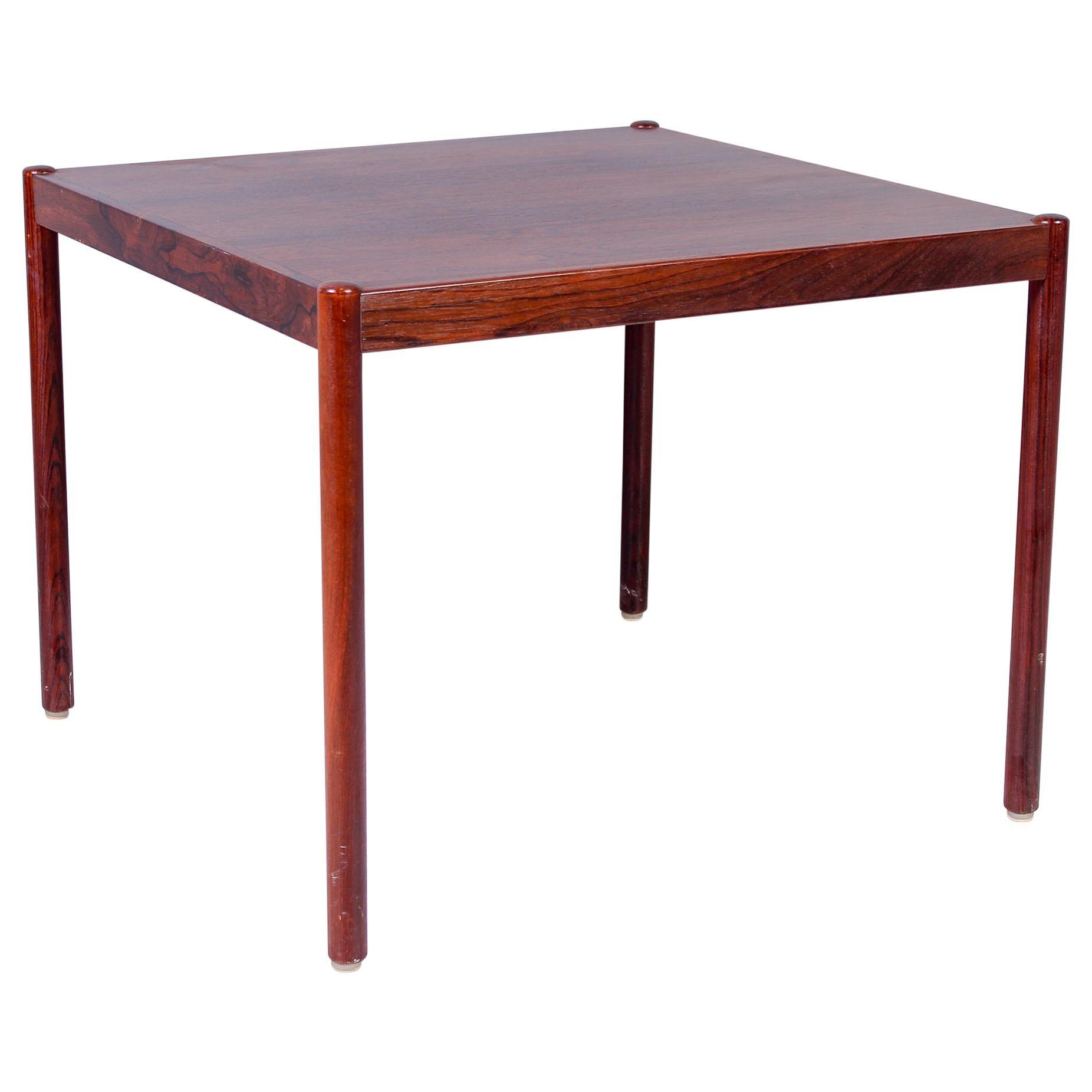 Rectangular Scandinavian Rosewood Coffee Table, 1950s