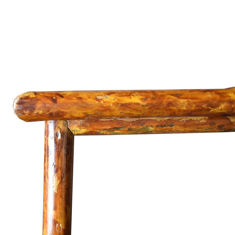 Rectangular Scorched Burnt or Tortoise Bamboo and Cane Coffee or Cocktail Table For Sale 3