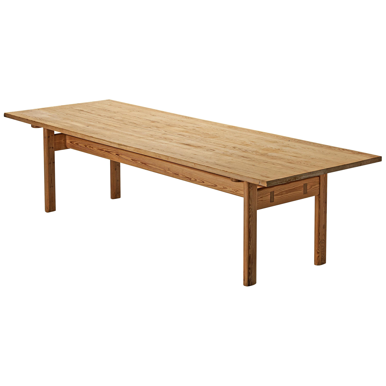 Rectangular Swedish Dining Table in Pine