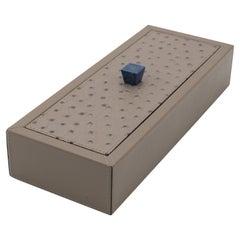 Custom Italian Taupe Leather Box