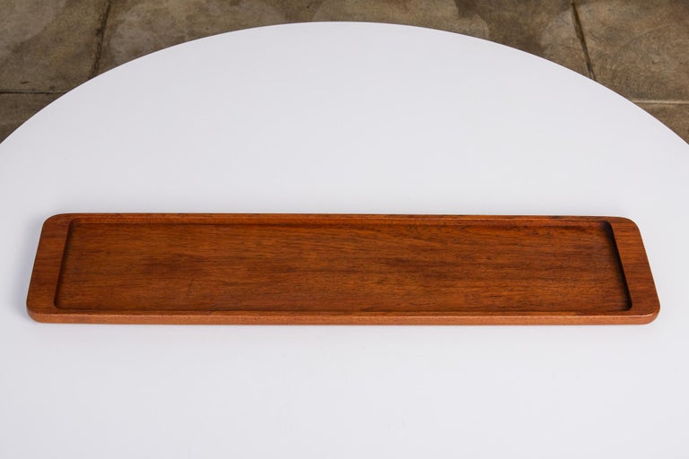 Rectangular Teak Serving Tray by ESA, Denmark In Excellent Condition For Sale In Los Angeles, CA