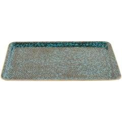 Rectangular Tray, Mediterranean Design by Robert Kuo, Handmade Cloisonne