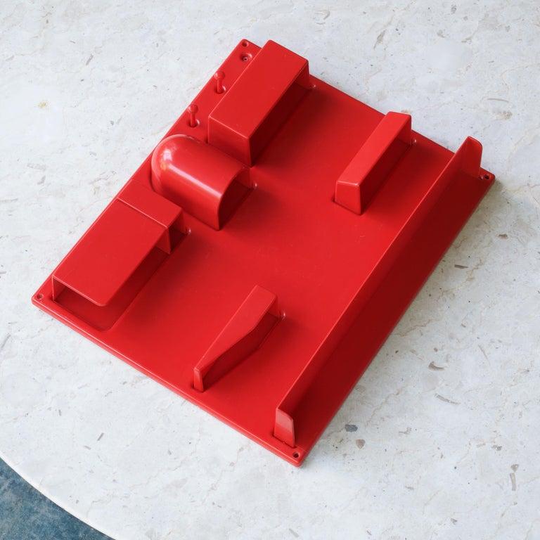 Post-Modern Red 1970s Organizer Wall-All III Uten.Silo Dorothee Maurer-Becker Pop Art Era