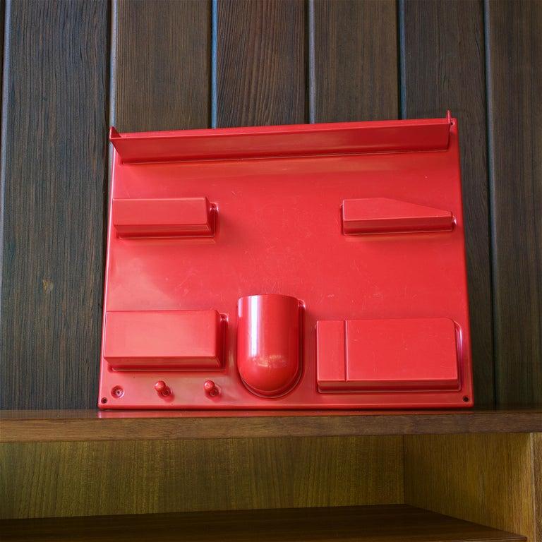 Molded Red 1970s Organizer Wall-All III Uten.Silo Dorothee Maurer-Becker Pop Art Era
