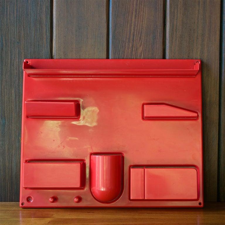 Red 1970s Organizer Wall-All III Uten.Silo Dorothee Maurer-Becker Pop Art Era In Distressed Condition In Washington, DC