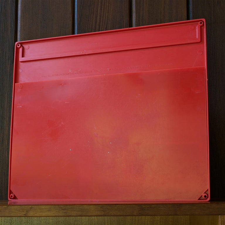 Plastic Red 1970s Organizer Wall-All III Uten.Silo Dorothee Maurer-Becker Pop Art Era