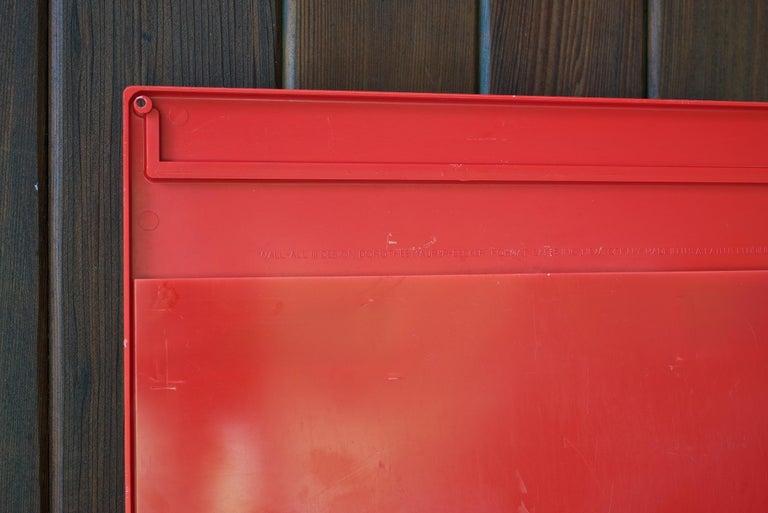 Red 1970s Organizer Wall-All III Uten.Silo Dorothee Maurer-Becker Pop Art Era 1