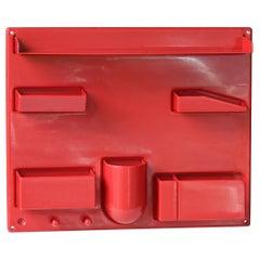 Red 1970s Organizer Wall-All III Uten.Silo Dorothee Maurer-Becker Pop Art Era