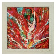 Red Abstract Palette Painting