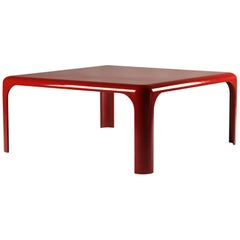 Red Acrylic Coffee Table by Vico Magistretti and Manufactured by Artemide, 1970s