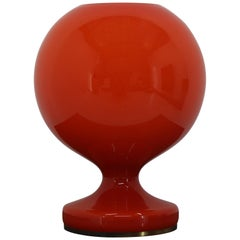Red Allglass Table Lamp Designed by Stefan Tabery, 1960s