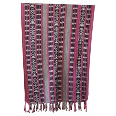 Red and Black Woven Ikat Textile Panel from Central America