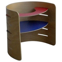 Red and Blue Child's Chair by Architect Kristian Vedel, Denmark, 1952