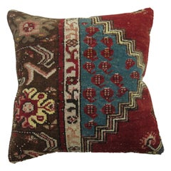 Red and Blue Christmas Color Turkish Rug Pillow
