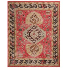 Red and Bright Gold Wool Rug from the Homage Collection by Rug & Kilim
