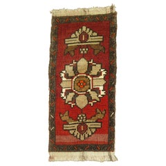 Red and Brown Turkish Anatolian Rug