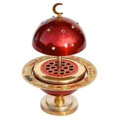 Red and Gold Colored Novelty Zodiac Globe Cigarette Holder, 1960s