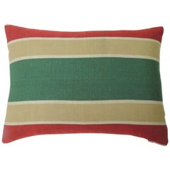 "Red and Green ""Holiday"" Stripes Decorative Bolster Pillow"