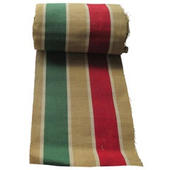 """Red and Green """"Holiday"""" Stripes Textile by The Yard"""